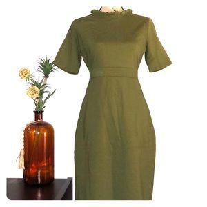 Ann Taylor Olive Green Dress Size 2